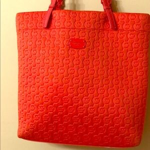 Michael Kors monogram red soft tote ❤️